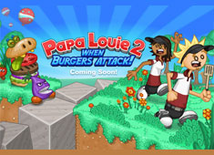Papa's Louie Burger Attack game
