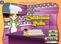 Sara's Cooking Class: California Rolls game