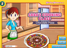 Saras Cooking Class Chocolate Pizza game