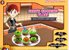 Sara's Cooking Class: Halloween Cup Cakes game