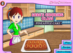Sara's Cooking Class: Pineapple Cake game