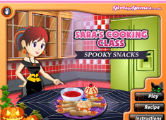 Sara's Cooking Class: Spooky Snacks game