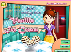 Sara's Cooking Class: Vanilla Ice Cream game