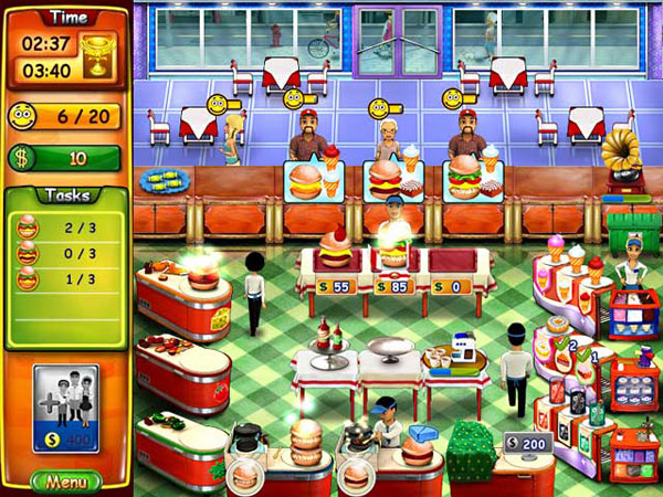 Burger Bustle Game: The Game Play