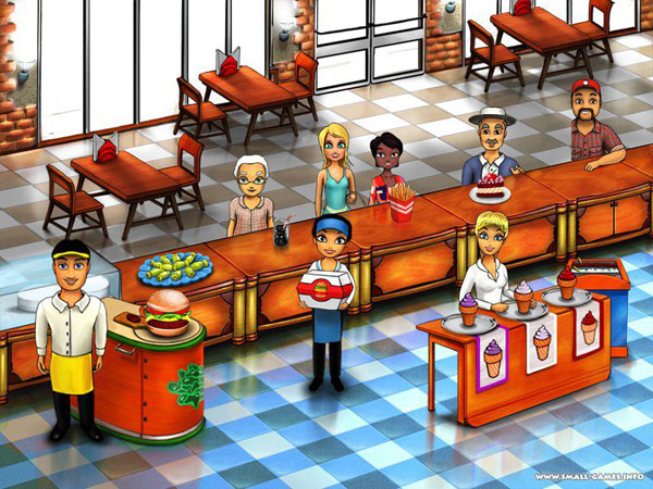 Burger Bustle Game: The Customers